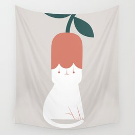Cat and Plants: Flower Fragrance  Wall Tapestry