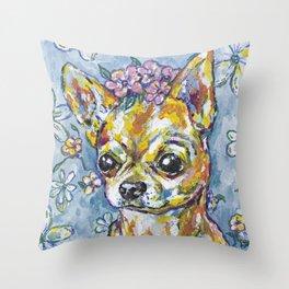Fri the Chihuahua  Throw Pillow