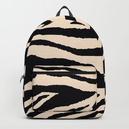 Zebra Animal Print Black and off White Pattern Backpack