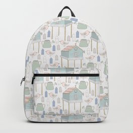 houses, watering cans and birds Backpack