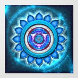 """Vishuddha Chakra - Throat Chakra - Series """"Open Chakra"""" Canvas Print"""