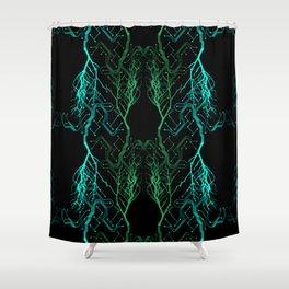 Techno Tree Shower Curtain