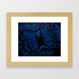 Butterfly in Blue Geode Framed Art Print