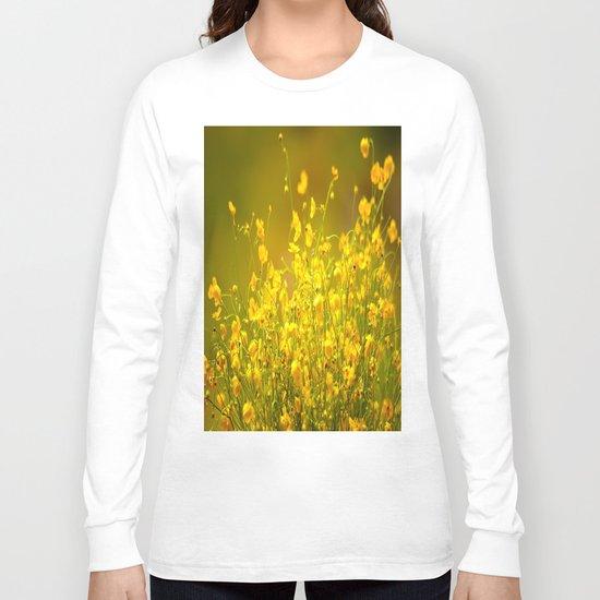 Yellow Mellow Flowers Long Sleeve T-shirt