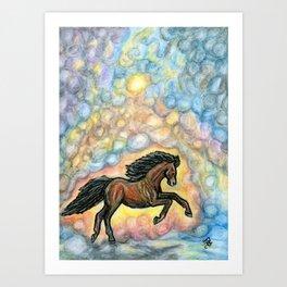 Comet Horse Art Print