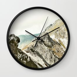 Mountain peak Wall Clock