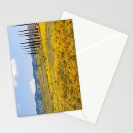 Golden Fields of Flowers Stationery Cards