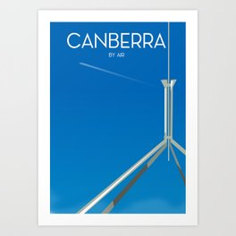 Canberra By Air Art Print