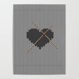 Original Knitted Heart Design Poster