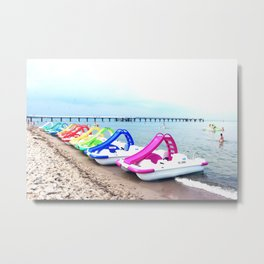 Colorful Beach Toys Metal Print
