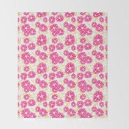 12 Sketched Mini Flowers Throw Blanket