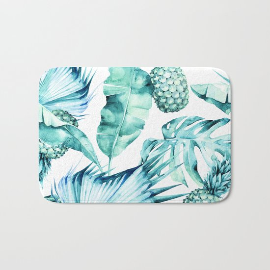 Bahamas - aquamarine Bath Mat