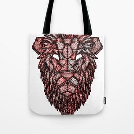 Lion Mask Tote Bag