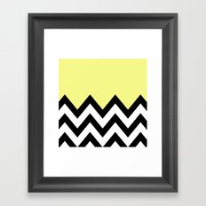 YELLOW COLORBLOCK CHEVRON Framed Art Print