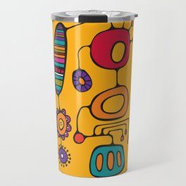 Feather Flower Chime in Color Travel Mug