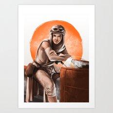 Desert Speeder Art Print