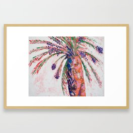 Desert Palm Tree Framed Art Print