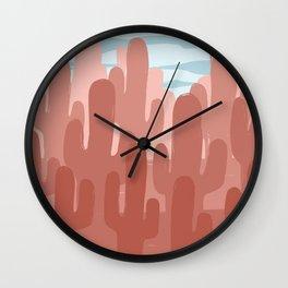 Rusty Cactus Wall Clock