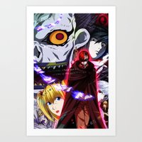 death note Art Prints featuring Death Note by Gerrin Tramis