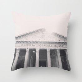 The Pantheon, fine art print, black & white photo, Rome photography, Italy lover, Roman history Throw Pillow
