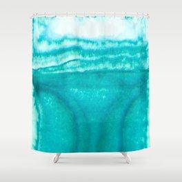 Teal Brainwaves Shower Curtain
