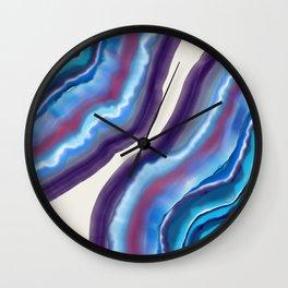 Violet purple agate Wall Clock