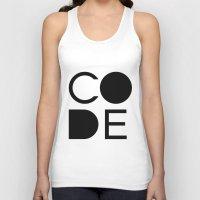 code Tank Tops featuring CODE by Nelson Marteleira