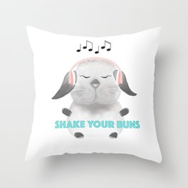 Shake Your Buns Throw Pillow