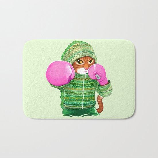 BOXING CAT 4 Bath Mat