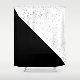 Black Speckle Shower Curtain