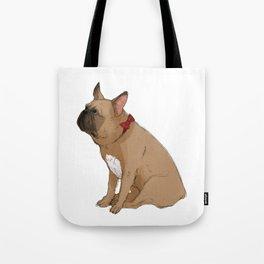 French Bulldog in Red2 Tote Bag