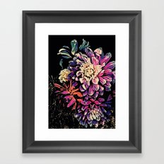 Autumn Dahlia Floral Bouquet Framed Art Print