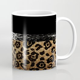 ANIMAL PRINT BLACK AND BROWN Coffee Mug