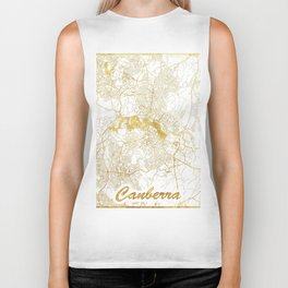 Canberra Map Gold Biker Tank