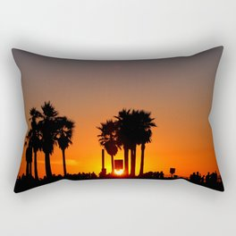Venice Beach Sunset Rectangular Pillow