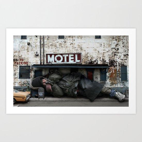Homeless Giant Art Print