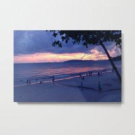 Sunset in Krabi Ao Nang Beach Metal Print