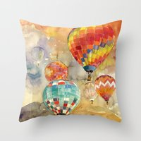 takmaj Throw Pillows featuring Balloons by takmaj