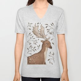 The Fallow Deer and Oats Unisex V-Neck