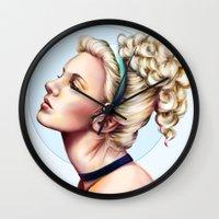 cinderella Wall Clocks featuring cinderella by Anja-Catharina