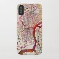 philadelphia iPhone & iPod Cases featuring Philadelphia by MapMapMaps.Watercolors