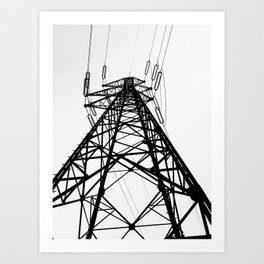 electric pole Art Print