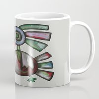 parrot Mugs featuring Parrot by Rudolf Brancovsky