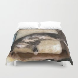 Free Fall Kitty Duvet Cover