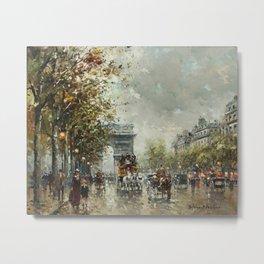Avenue des Champs-Élysées, Paris, France by Antoine Blanchard Metal Print