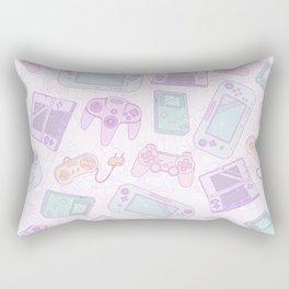 Gamer Girl Pattern Rectangular Pillow