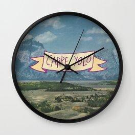 CARPE YOLO Wall Clock