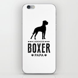 Boxer Dad German Boxer Dog Lover Dog Owner iPhone Skin