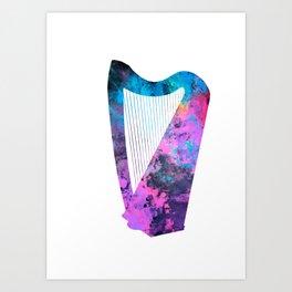 Harp art #harp Art Print