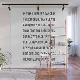 In This House We Dance In the Kitchen. Say Please and Thank You. Trust In God… Wall Mural